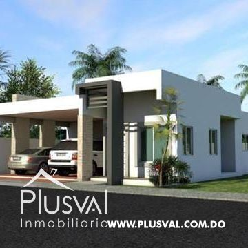 Moderna Residencia de 1 Nivel en Urbanización Jardines Del Sur
