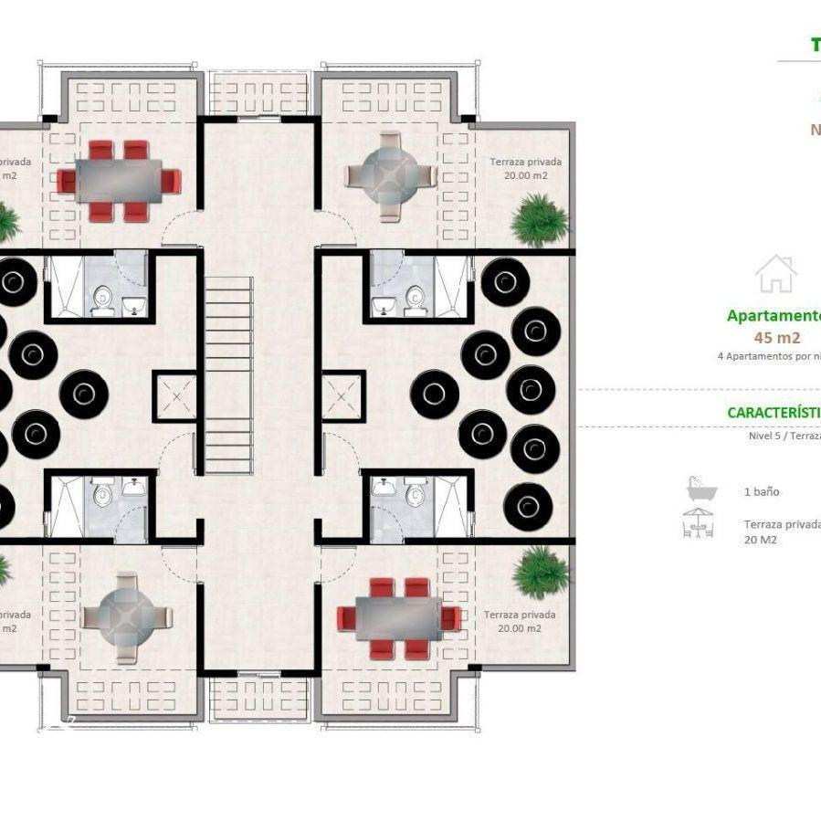 Apartamentos en la Jacobo Majluta con excelente área social 173637