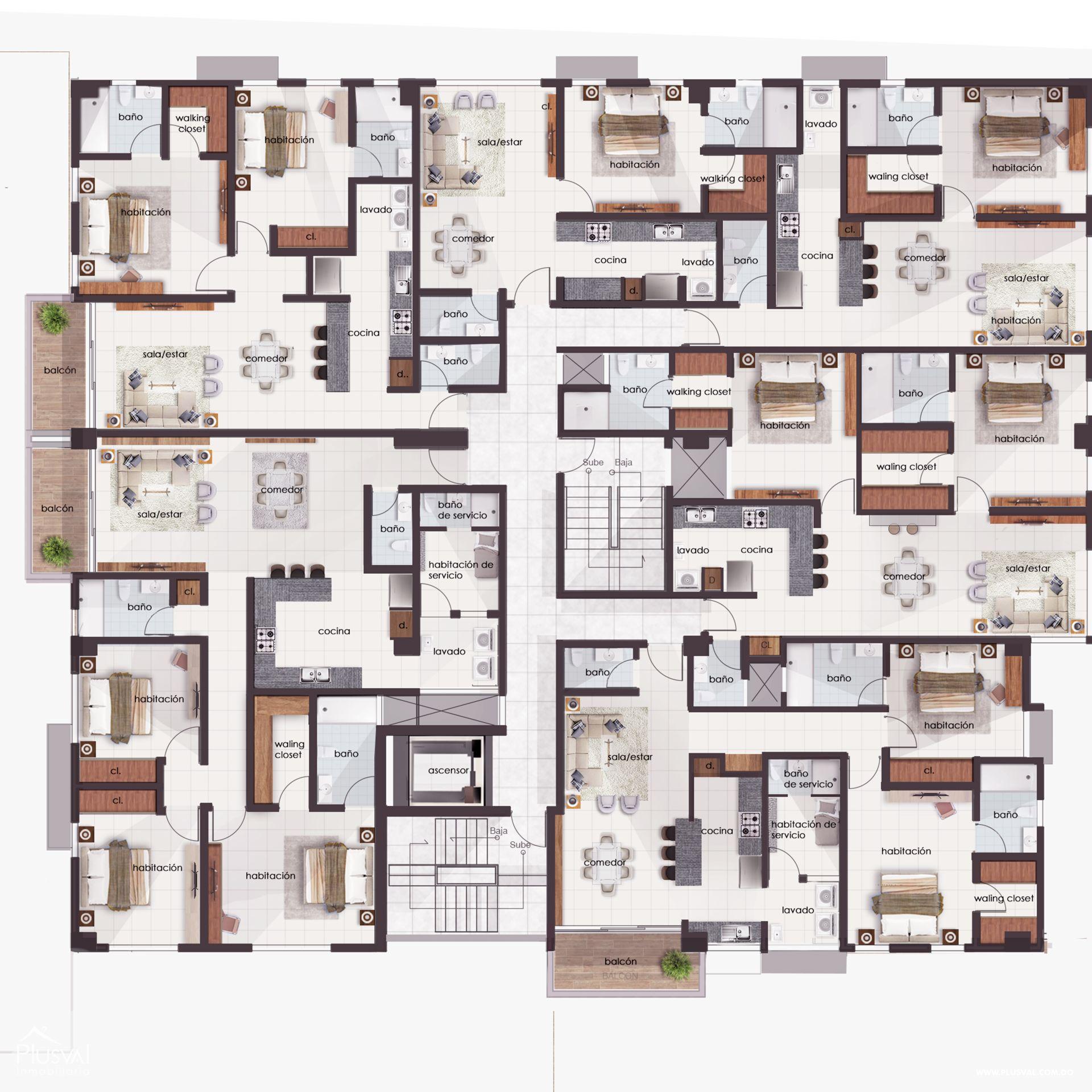 Apartamento en 3 habitaciones en la Zona Universitaria. 167113