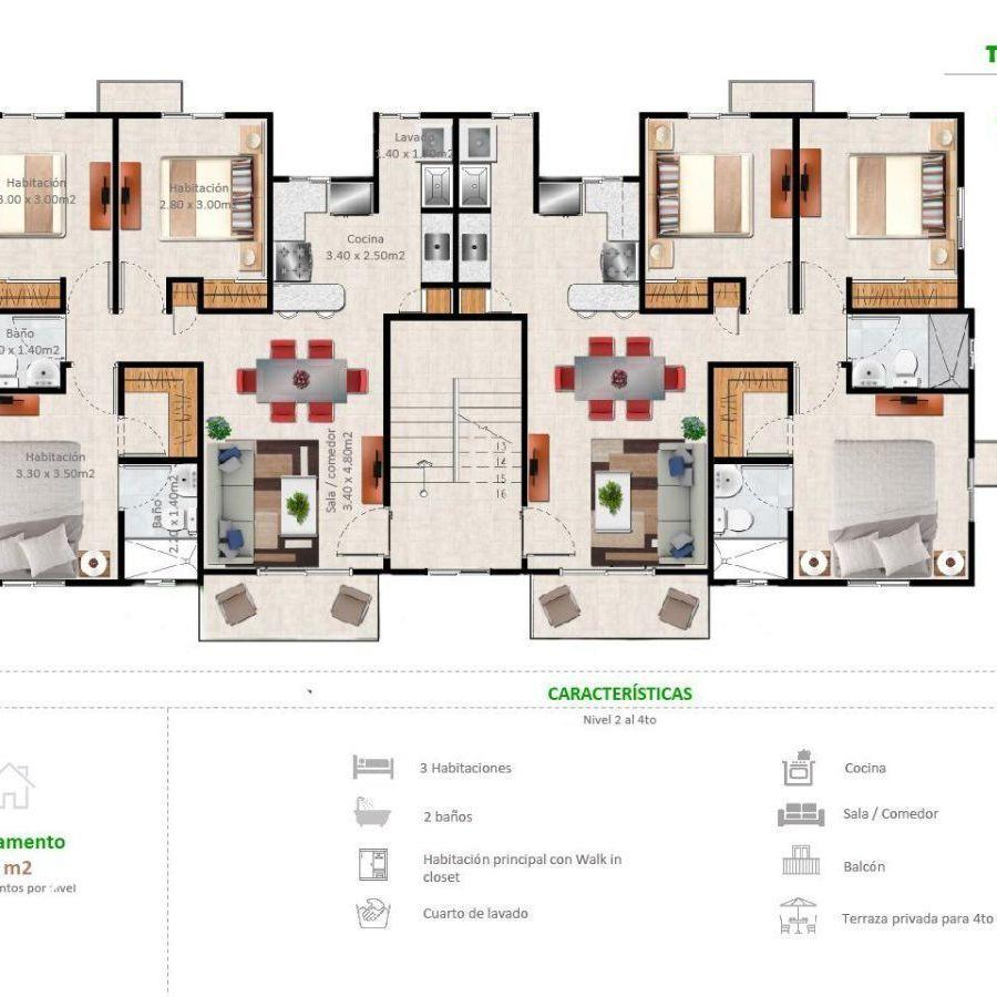 Apartamentos en la Jacobo Majluta con excelente área social 173630