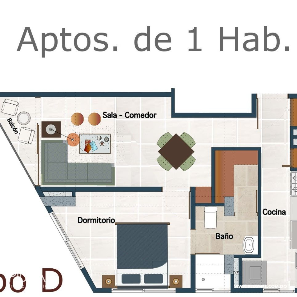 Céntrico y moderno proyecto de apartamentos en venta, La Julia 184419
