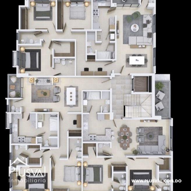 Proyecto de 2 y 3 habitaciones en los restauradores 167764