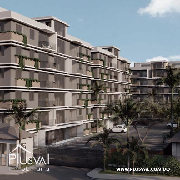 Apartamentos modernos con piscina próximo a la autopista Duarte