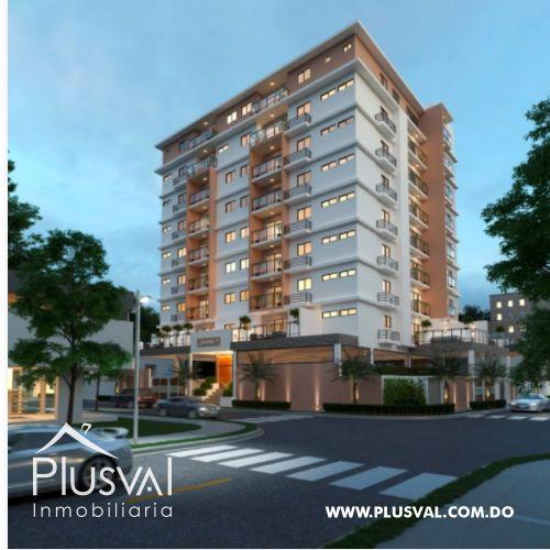 Moderno proyecto de apartamentos de 1 y 2 hab. en el sector de Bella Vista